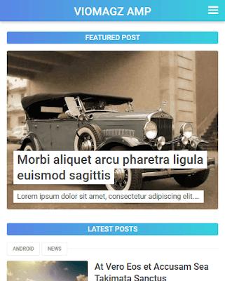 VioMagz AMP Premium Blogger Template