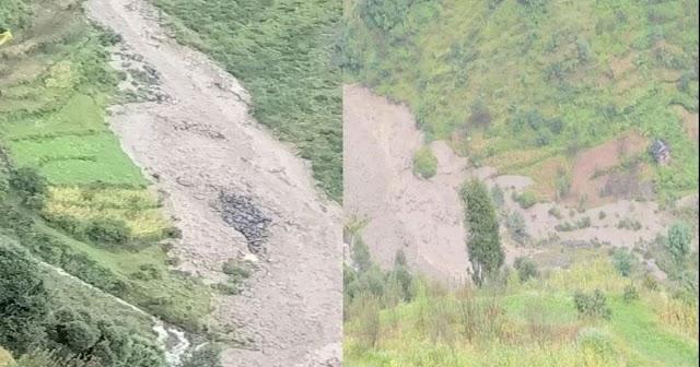 हिमाचल में फटा बादल: 20 Km के दायरे में हुआ नुकसान- फसल और सेब बगीचे तबाह