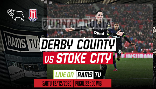 Prediksi Derby vs Stoke , Sabtu 12 Desember 2020 Pukul 22.00 WIB