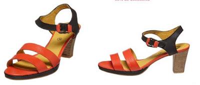 sandalias para mujer de piel marca Kickers