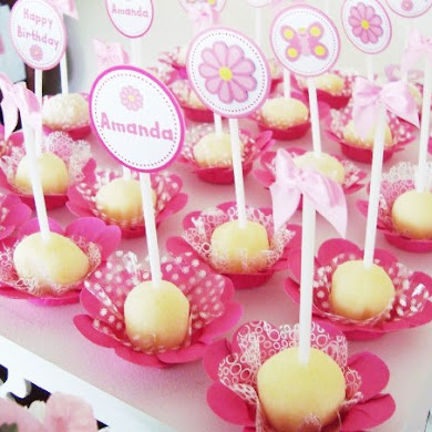 A Sweet Pink Butterfly Garden Party