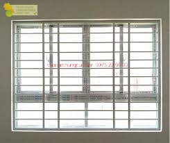 Khung sắt cửa sổ dành cho cửa nhôm trượt 4 cánh
