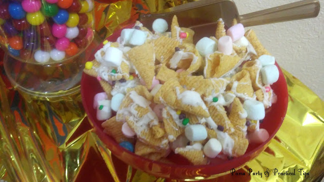 party ideas, unicorn party, party mix, sweet treats