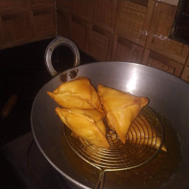 Samosa or Singada in making at Home