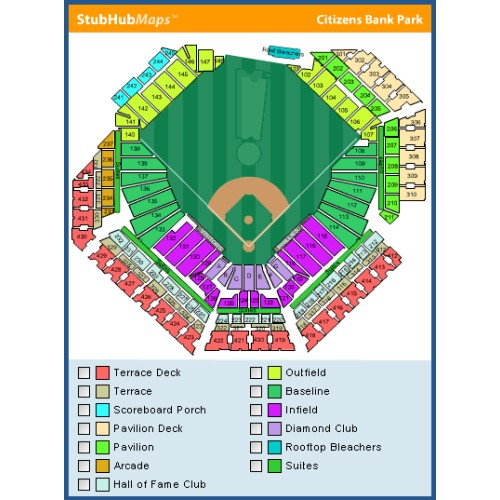 Fresh Citizens Bank Park Seating Chart With Seat Numbers