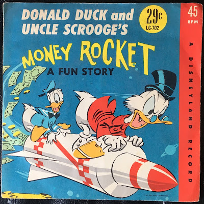 Walt Disney Little Gem record, 45 RPM, Manufactured in Canada by RCA Victor Company, LTD, 1961
