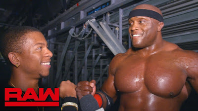 WWE Raw 205 Lio Rush Bobby Lashley Manager Management Hype Man