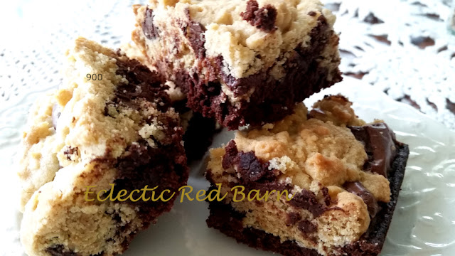 Eclectic Red Barn: Chocolate Chip Cookie Dough Brownies