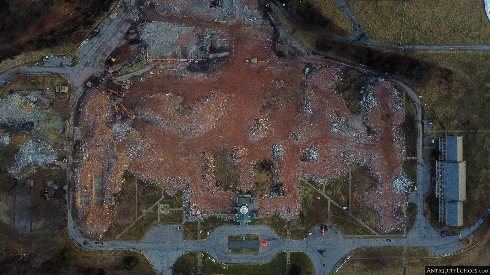 Allentown State Hospital - Demolition - From Above
