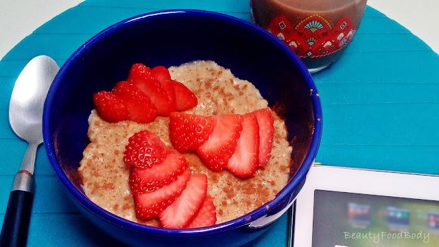 receta light fit sana porridge gachas avena y fruta desayuno