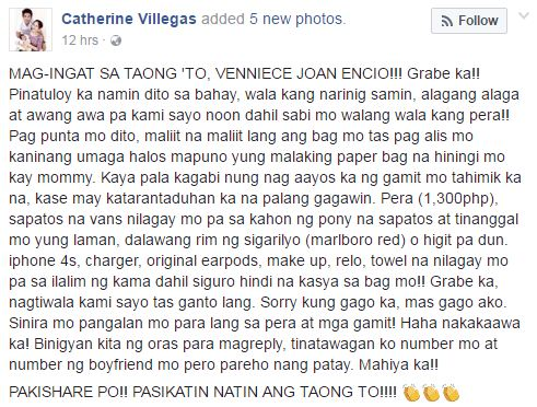 BEWARE: Woman This Family Welcomed Into Their Home Turns Out To Be A Thief. Who Is She? Read This!
