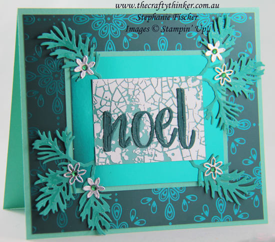 #thecraftythinker #stampinup #christmascard #cardmaking #mercuryglassacetate #beautifulboughs , Mercury Glass Acetate, Beautiful Boughs, Christmas card, Hand Lettered Prose, Stampin' Up Demonstrator, Stephanie Fischer, Sydney NSW