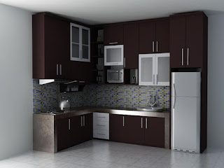 Model kitchen set aluminium