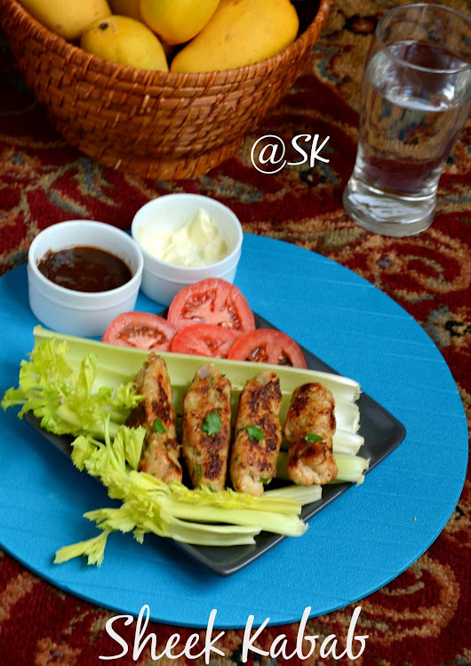 Chicken sheek Kabab - A healthy starter - Step by Step