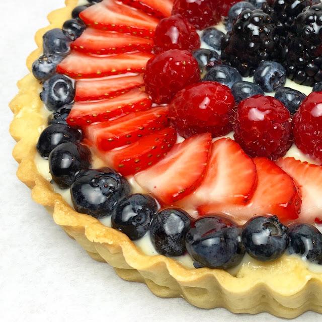 Fresh Fruit Tart Close-Up