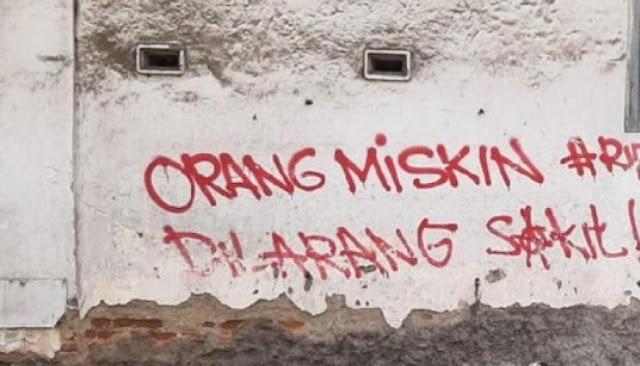 Polisi Selidiki Pelaku Vandalisme 'Orang Miskin Dilarang Sakit' di Solo: Kami Akan Bina