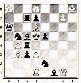 Problema de mate en 2 compuesto por J. García Llamas (3º Premio, Problemas SEPA, 1951)