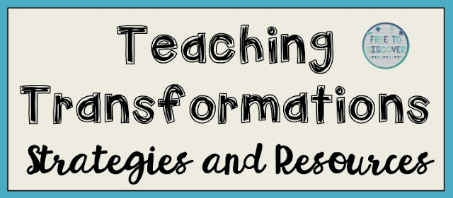 Transformations can be so difficult for students to visualize.  It's really important for middle and high school students to engage in hands-on activities that facilitate a concrete understanding of the topics, without simply memorizing some rules.  Here are four strategies to consider when planning your transformations unit.