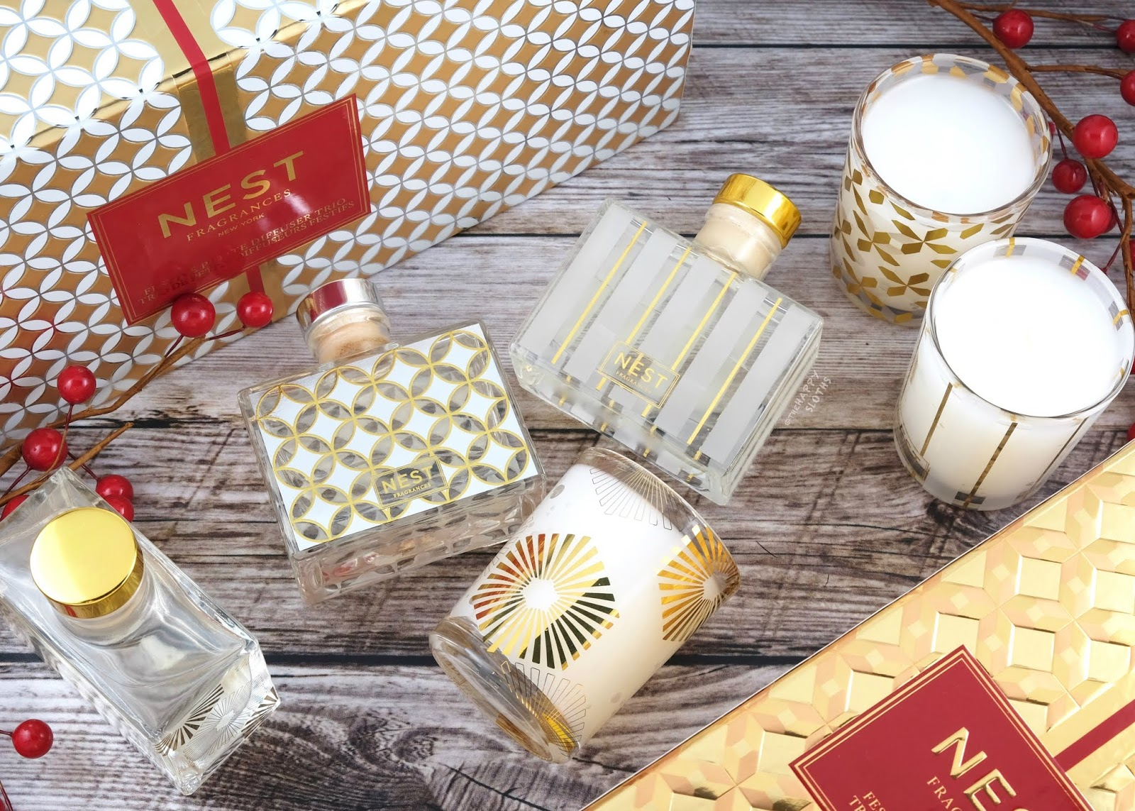 NEST Fragrances | Holiday 2019 Festive Votive Trio & Festive Petite Diffuser Trio: Gift Guide