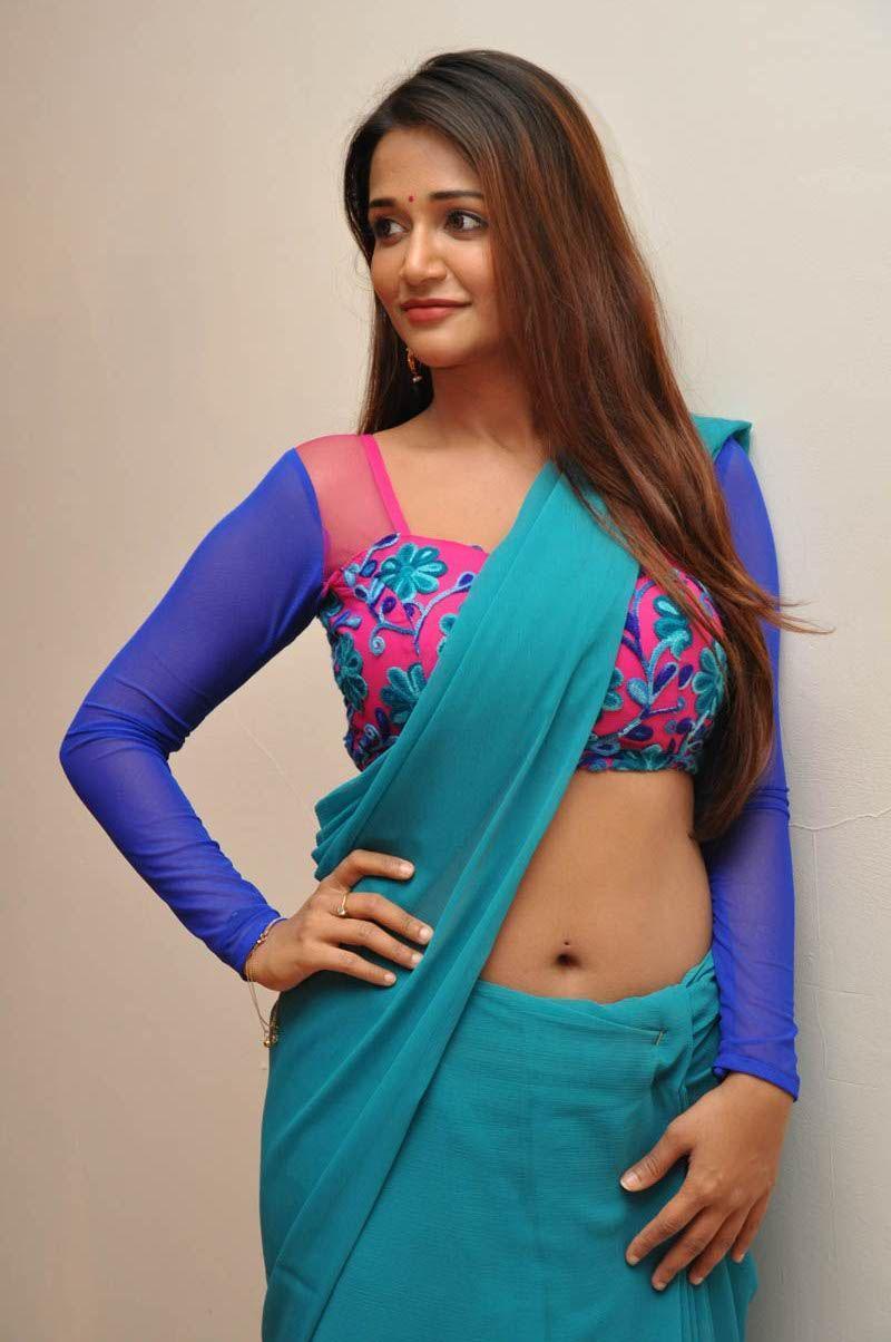 Anaika Soti Low Saree Deep Navel