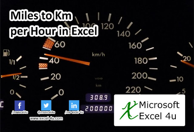 Miles to Km per Hour in Excel