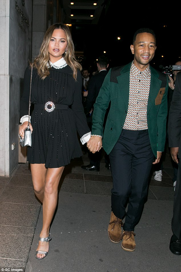 What trouble! Chrissy Teigen And John Legend Step Out In Style