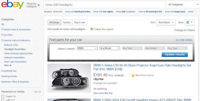 ebay tuotehaku