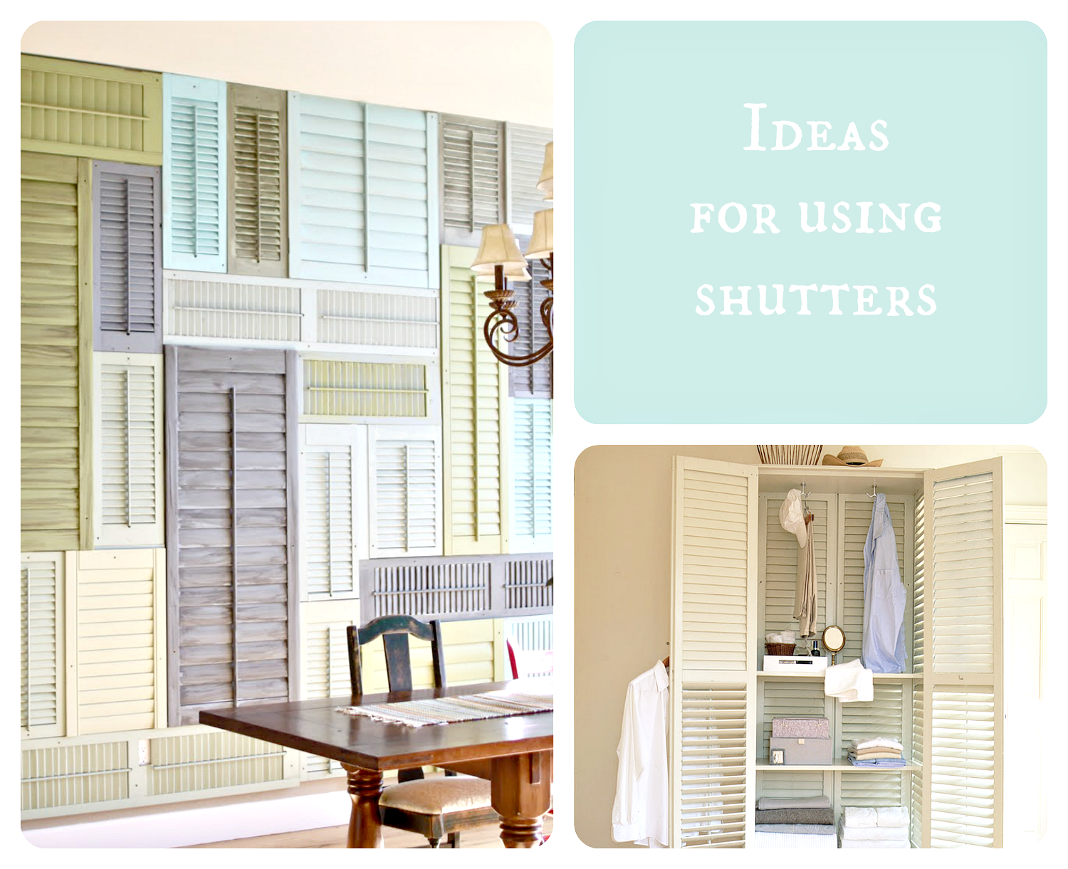 shutter decorating ideas