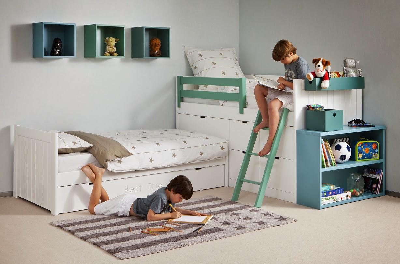 Los m s peque os se lo merecen habitaciones juveniles e - Habitacion pequena dos camas ...