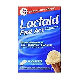 Lactaid Chữa đầy hơi, chướng bụng và không dung nạp lactose nhẹ