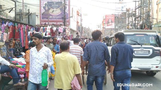 Footpath Hathwa market patna