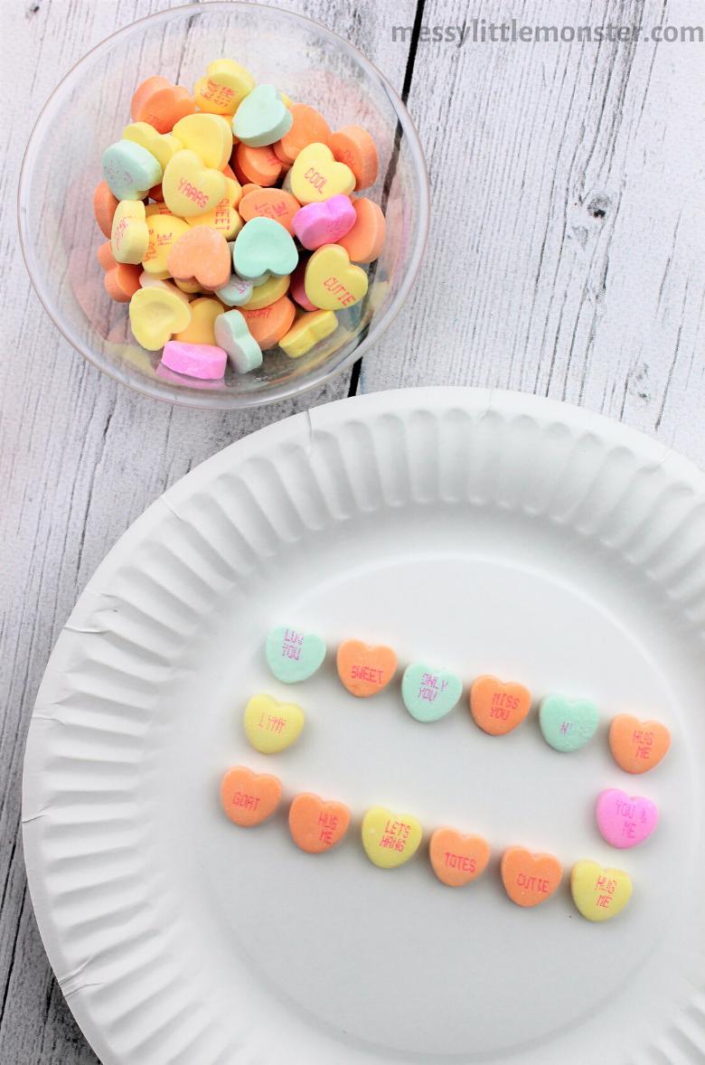 Valentine math activities for preschoolers