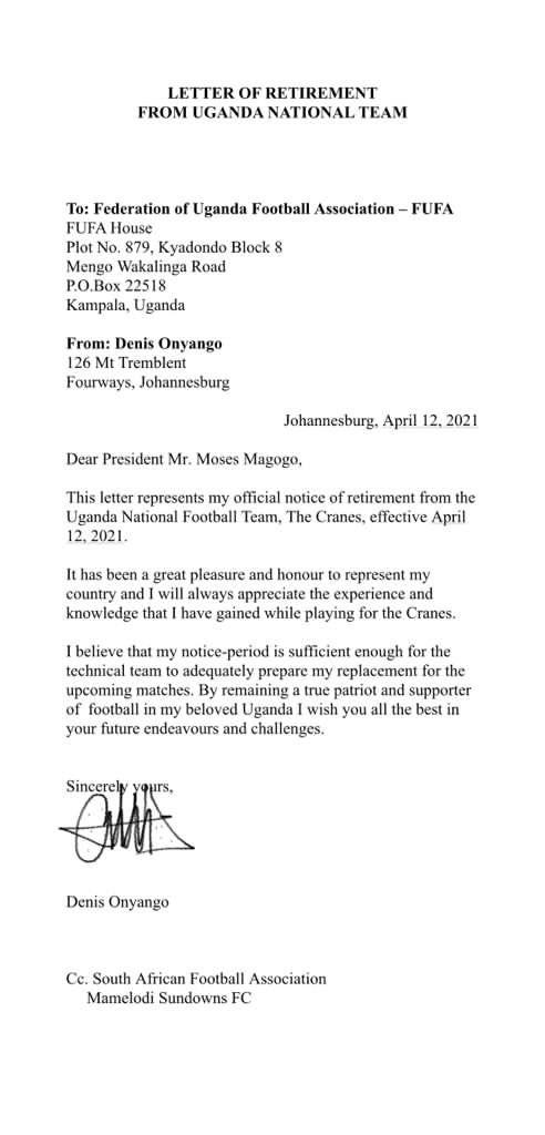 Denis Onyango retires