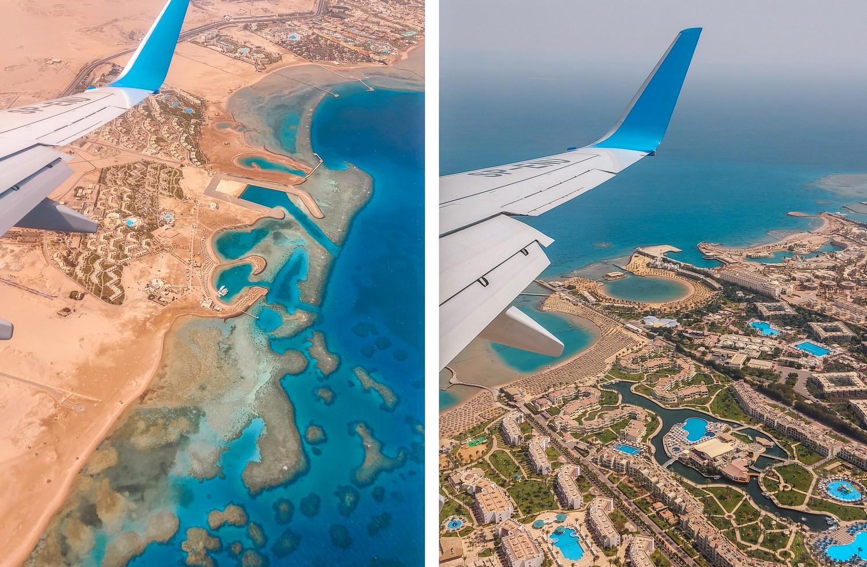 Hurghada widok z samolotu