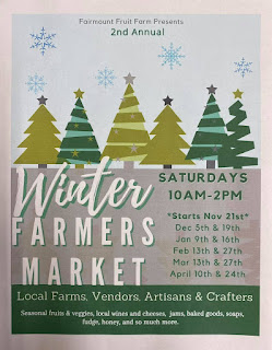 Winter Farmers Market: Saturday - Jan 9, 2021 = 10 AM - 2 PM