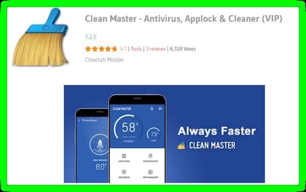 Clean Master:Space Cleaner & Antivirus VIP v7.3.5 Apk!