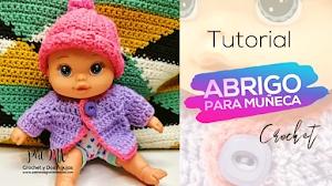 Cómo tejer un abrigo top down a crochet para la muñeca