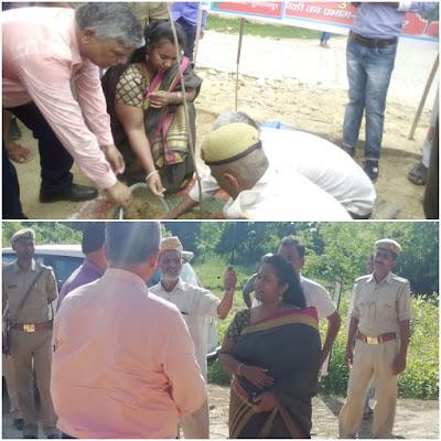 DM C Indumati Plant Trees Sultanpur Uttar Pradesh