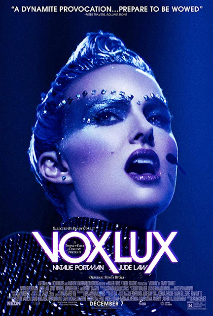 Vox Lux 2018 movie poster Natalie Portman Jude Law