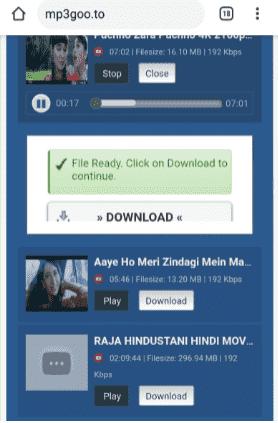 mp3goo se songs kaise download kare step3
