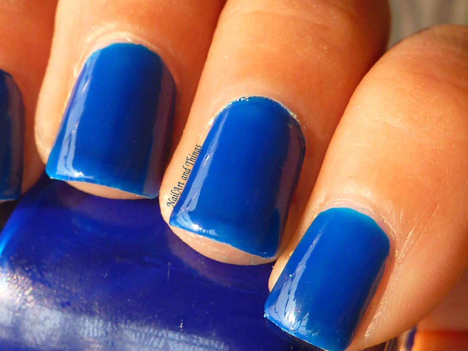 NailArt and Things: Blue Roses Porcelain Nail Art (Jelly ...