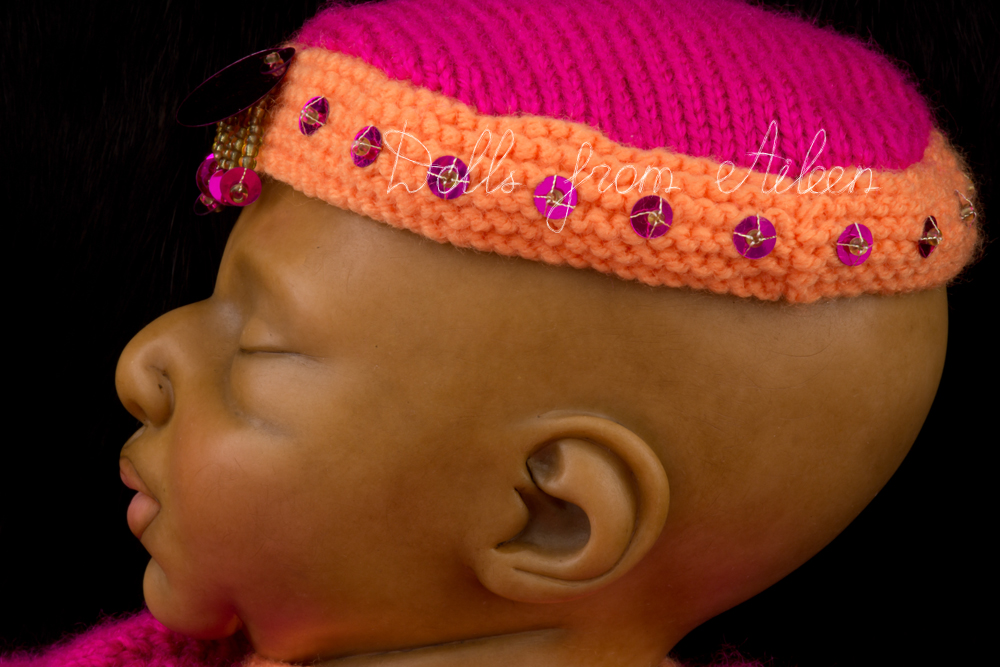 OOAK Hand Sculpted Sleeping Indian Baby Girl Doll's Profile