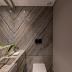 Lavabo contemporâneo com quartzito Corteccia na parede e bancada!
