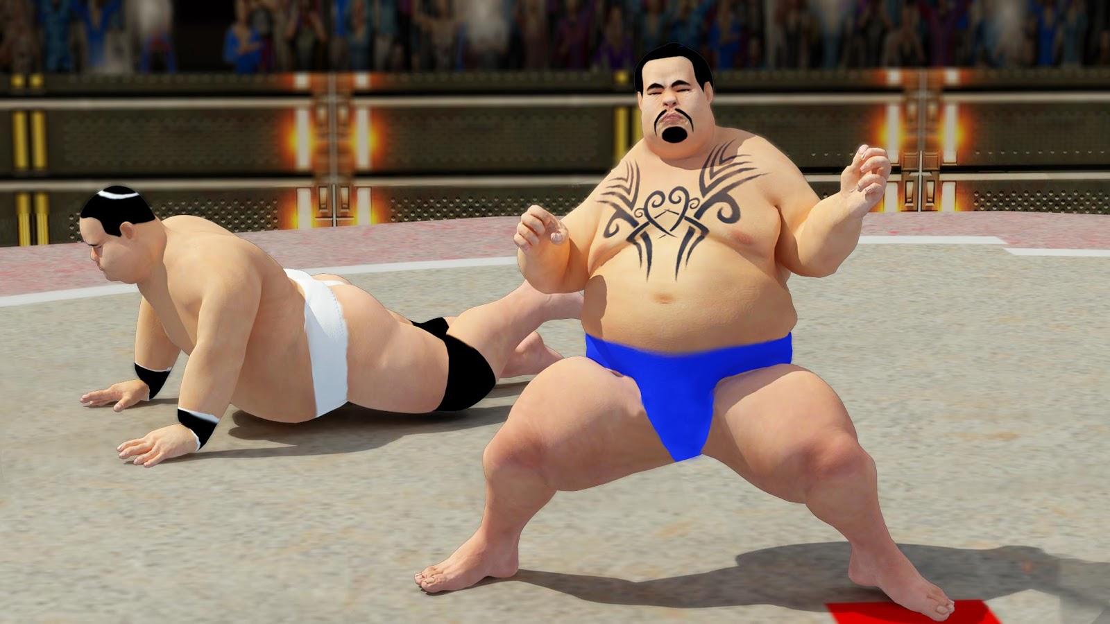 Sumo wrestling Revolution 2017 Pro Stars Fighting MOD APK Terbaru