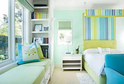 cat dinding kamar 2 biru hitam