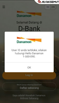 internet banking danamon diblokir