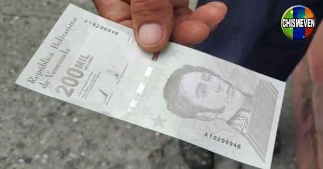 En Maracaibo los comercios ya no aceptan el nuevo billete de 200.000 bolívares