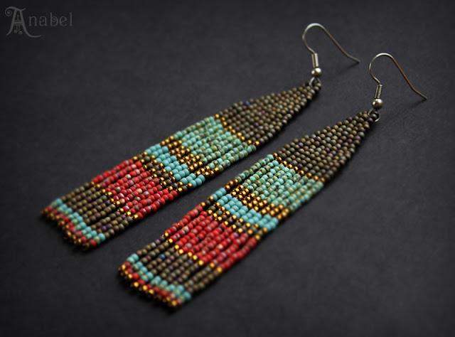 купить серьги из бисера куплю украшения из бисера в этно стиле бохо