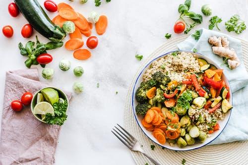 مكونات الطعام الصحي
