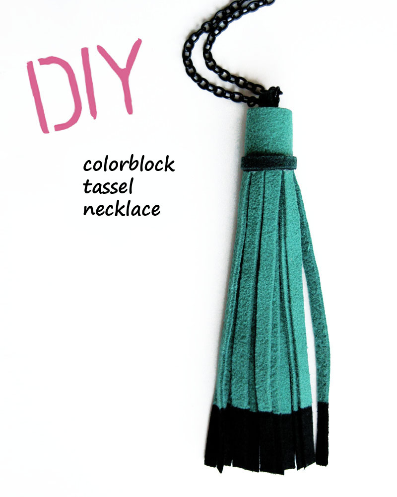 wear the canvas diy fri color block tassel necklace. Black Bedroom Furniture Sets. Home Design Ideas